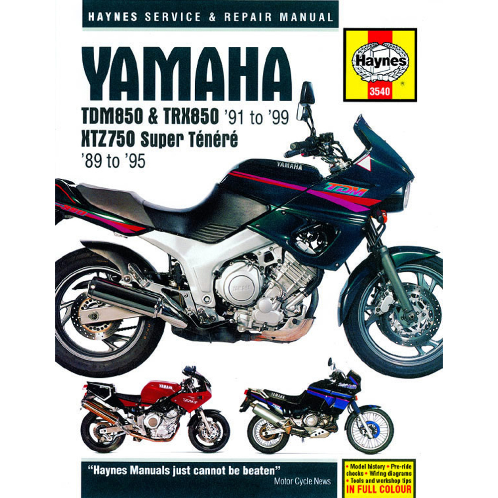 Yamaha Tdm850 Haynes Manual 1989