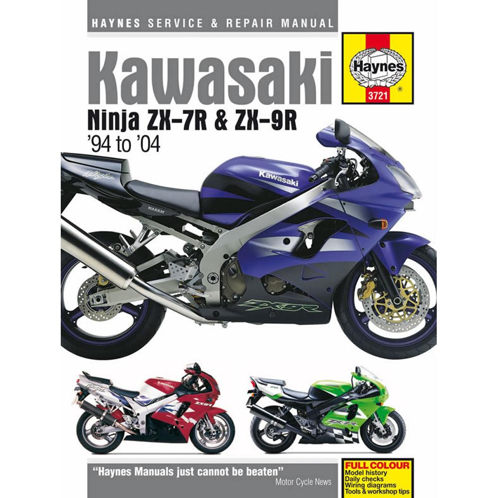 Kawasaki Ninja Zx7r Haynes Manual 1994 2004 Zx9r Workshop border=