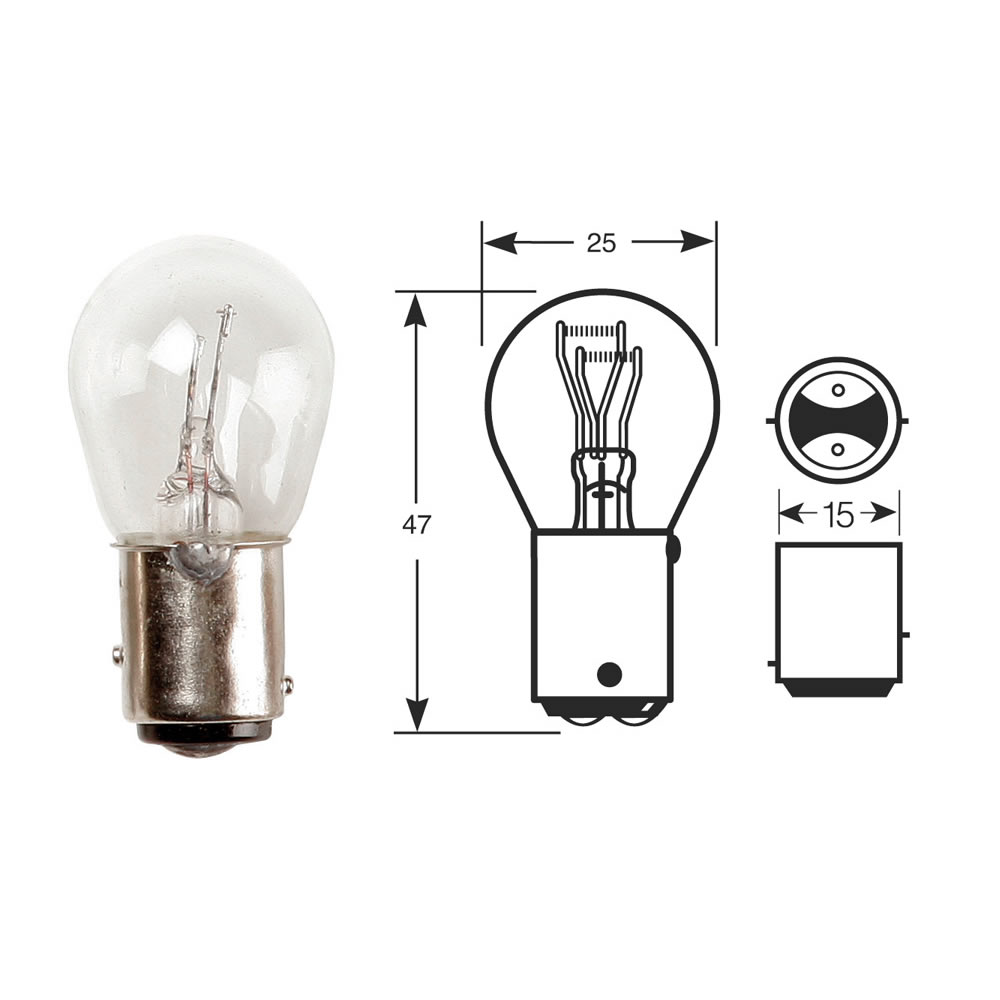 10x rw380 bulb 12v 21 5w bay15d stop and tail bulbs ebay. Black Bedroom Furniture Sets. Home Design Ideas