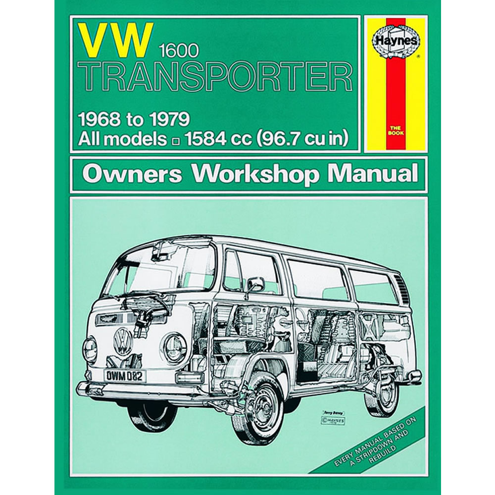 VW Transporter 1600 Haynes Manual 1968-79 1.6 Petrol Workshop