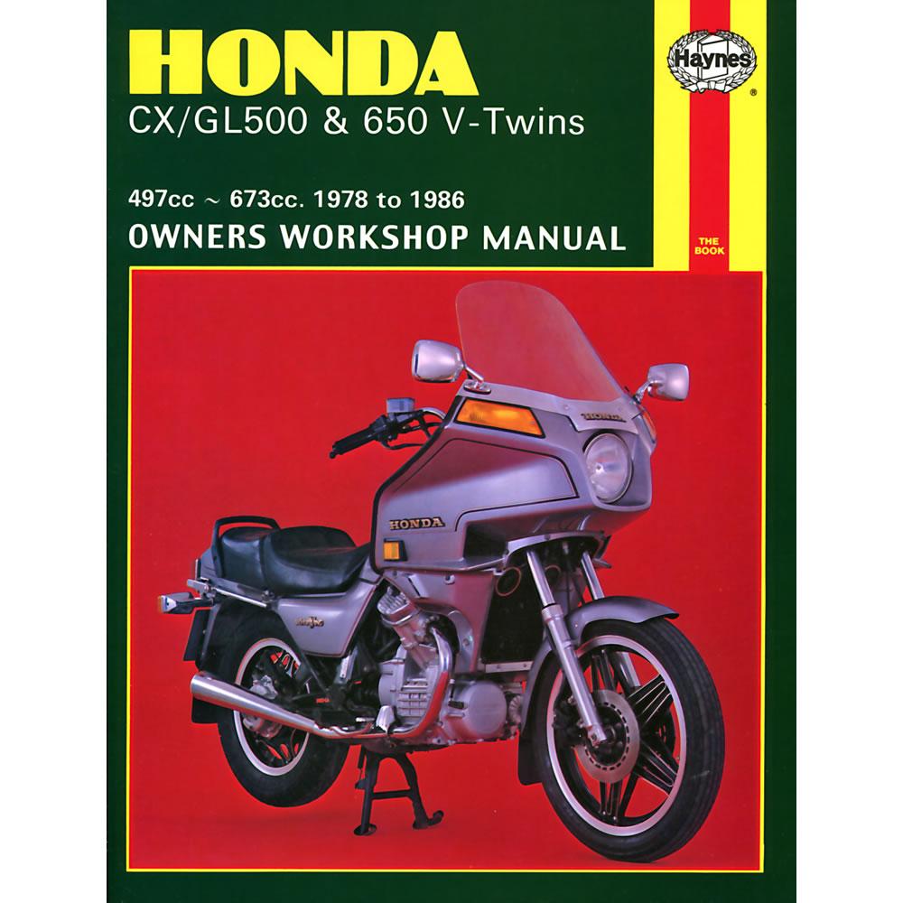 Honda CX500 CX650 GL500 GL650 V-Twins 1978-1986 Haynes Workshop Manual