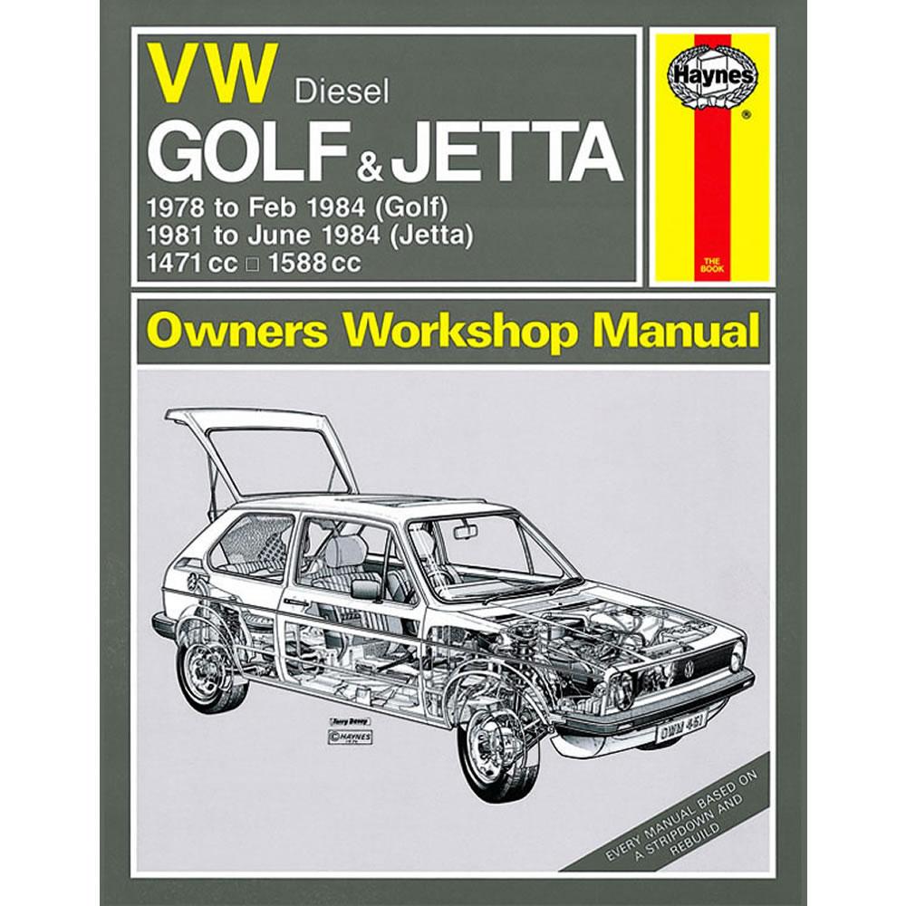 VW Golf Jetta MK1 Haynes Manual 1978-84 1.5 1.6 Diesel Workshop