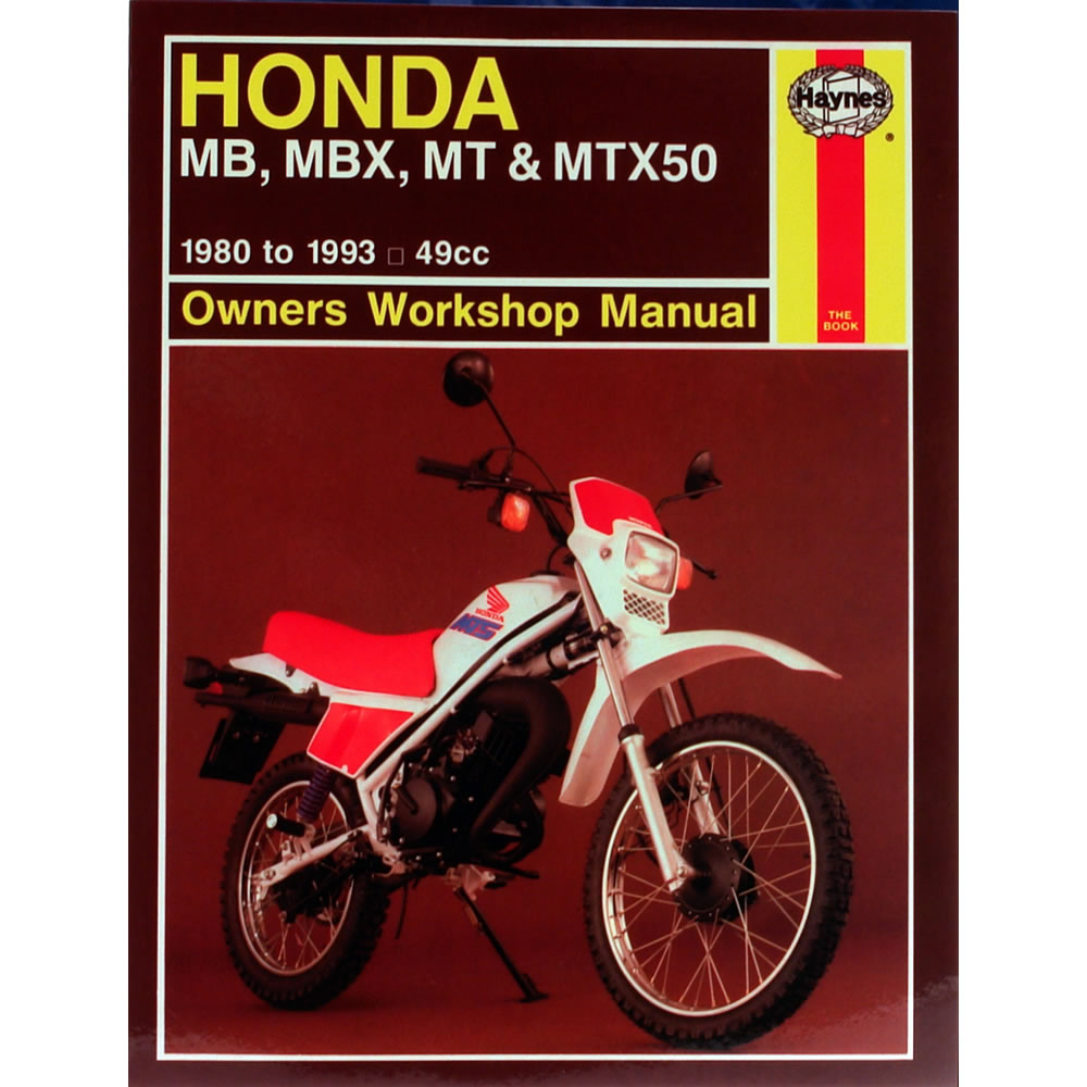 Honda MB5 MBX50 MT50 MTX50 1980-93 Haynes Workshop Manual