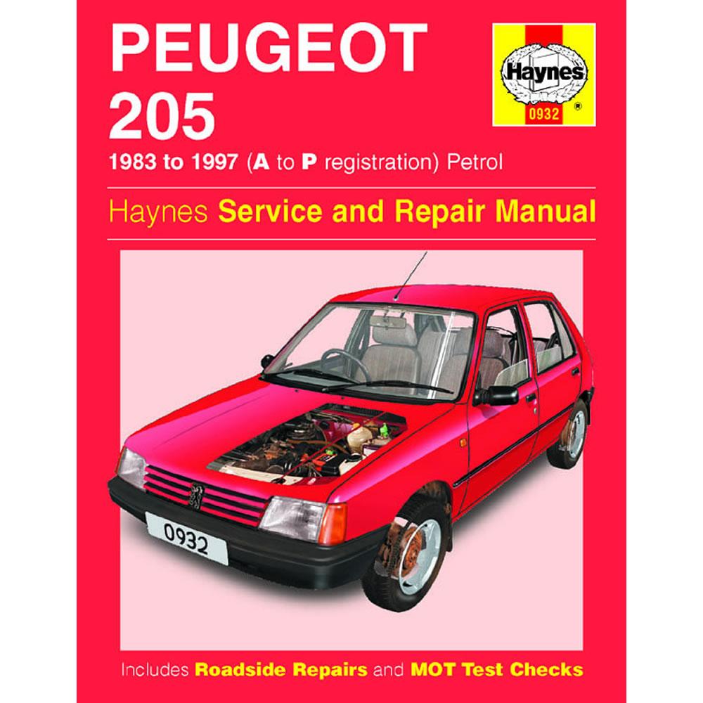 Peugeot 205 Haynes Manual 1983-97 1.0 1.1 1.4 1.6 1.9 Petrol Workshop