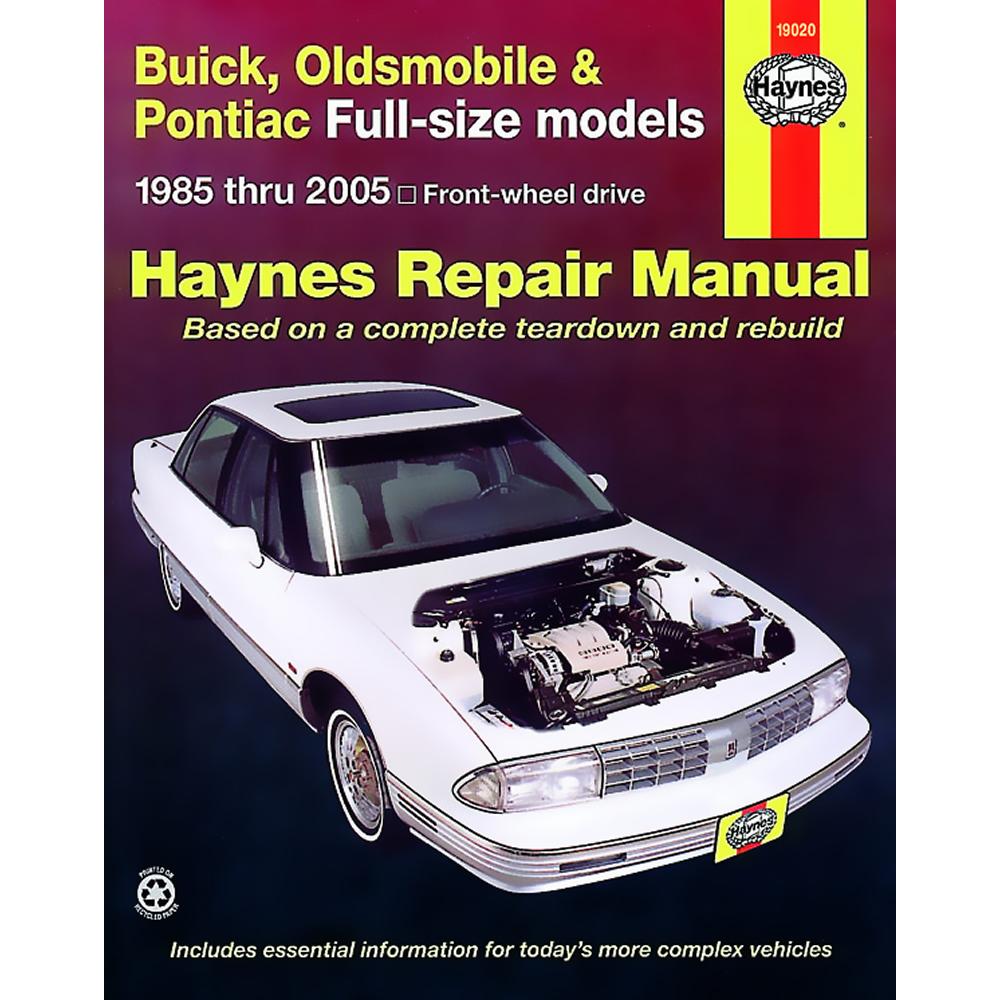Oldsmobile Regency 1997-1998 Haynes USA Workshop Manual