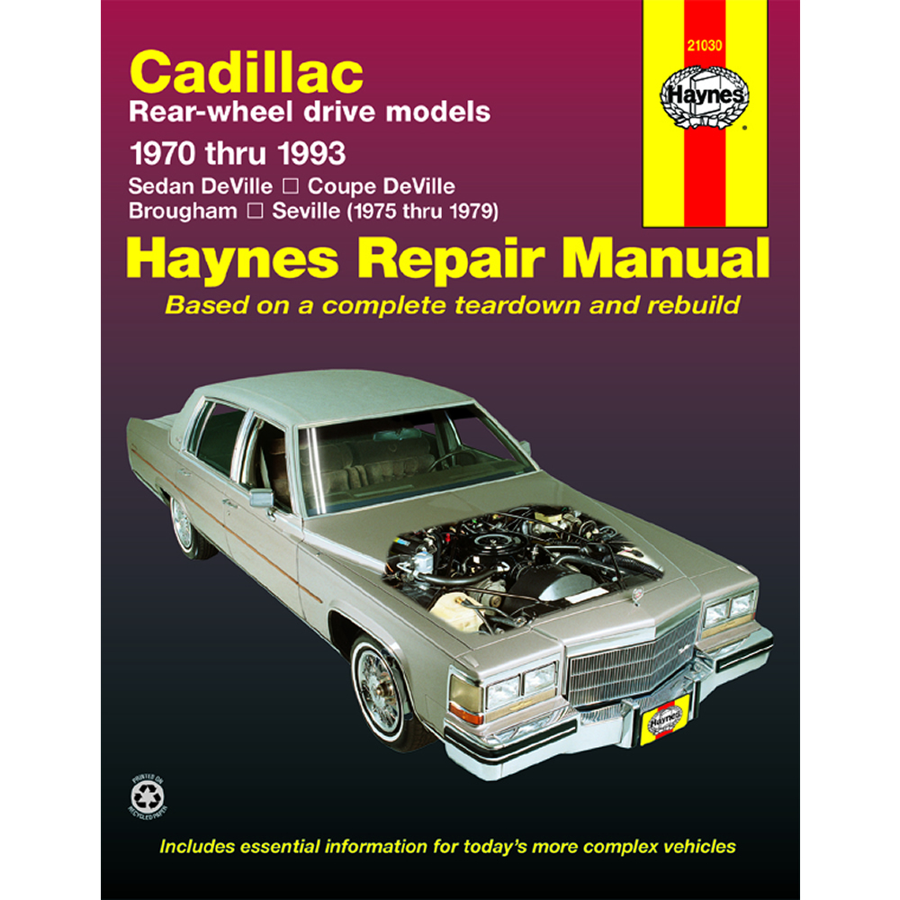 Cadillac Seville 1975-1979 Haynes USA Workshop Manual