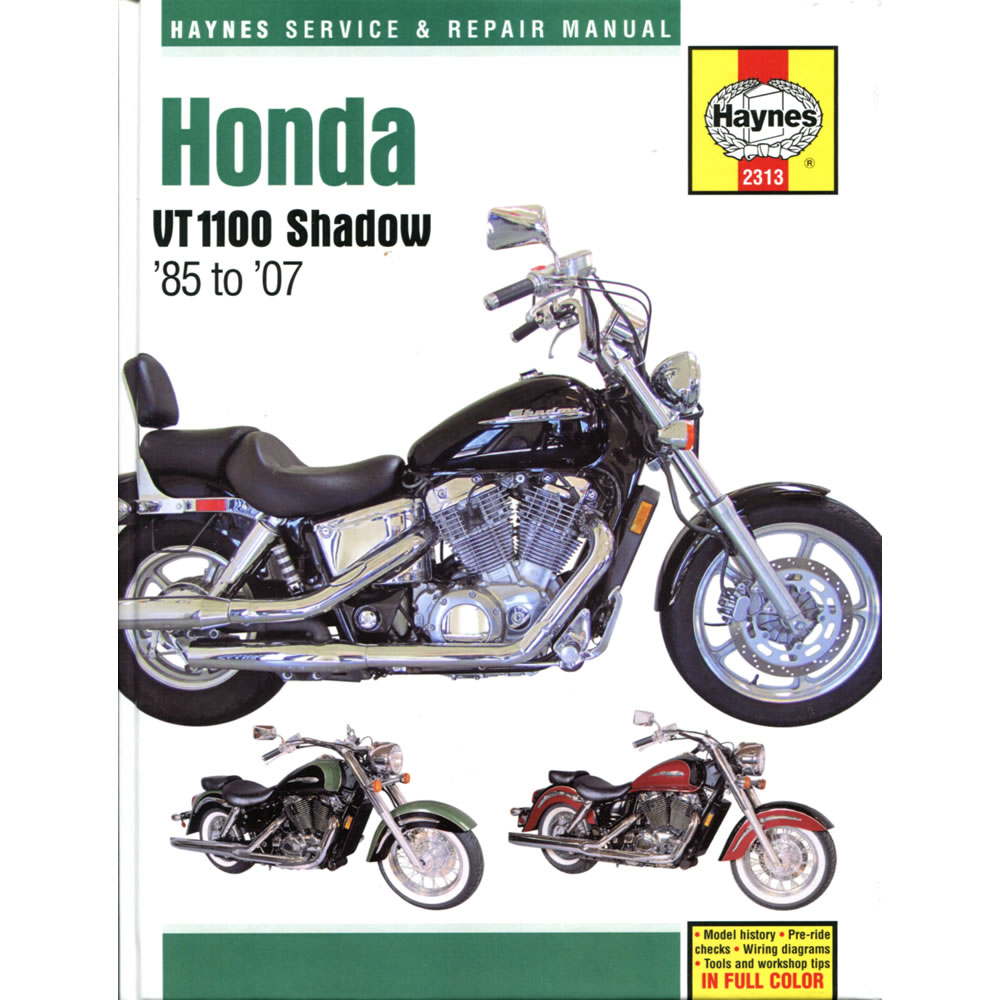 Honda VT1100 Shadow Spirit Sabre 1985-2007 Haynes Workshop Manual
