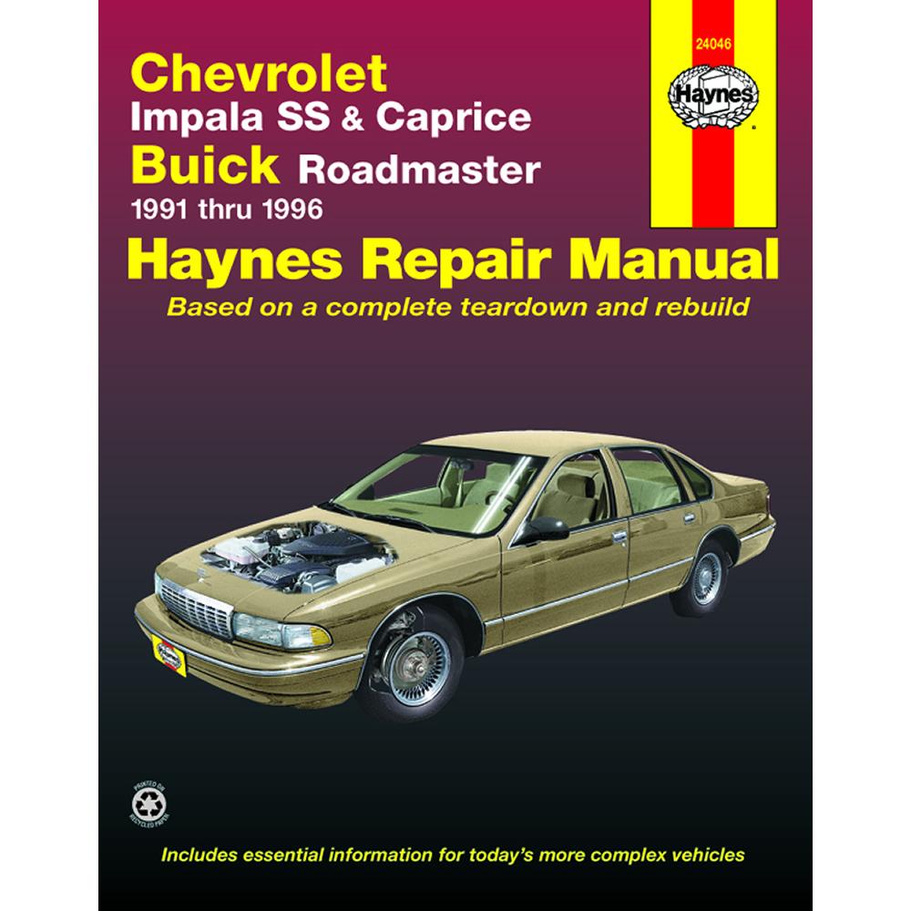 Chevrolet Impala SS Caprice 1991-1996 Haynes USA Workshop Manual