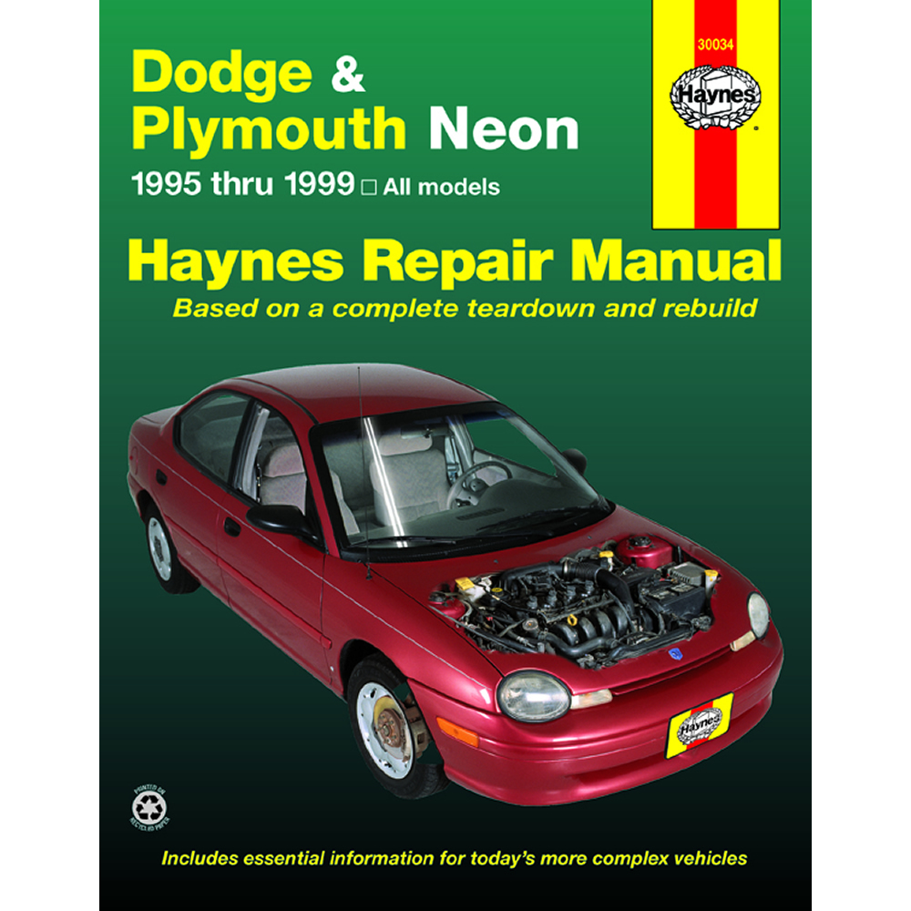 Dodge and Plymouth Neon 1995-1999 Haynes USA Workshop Manual