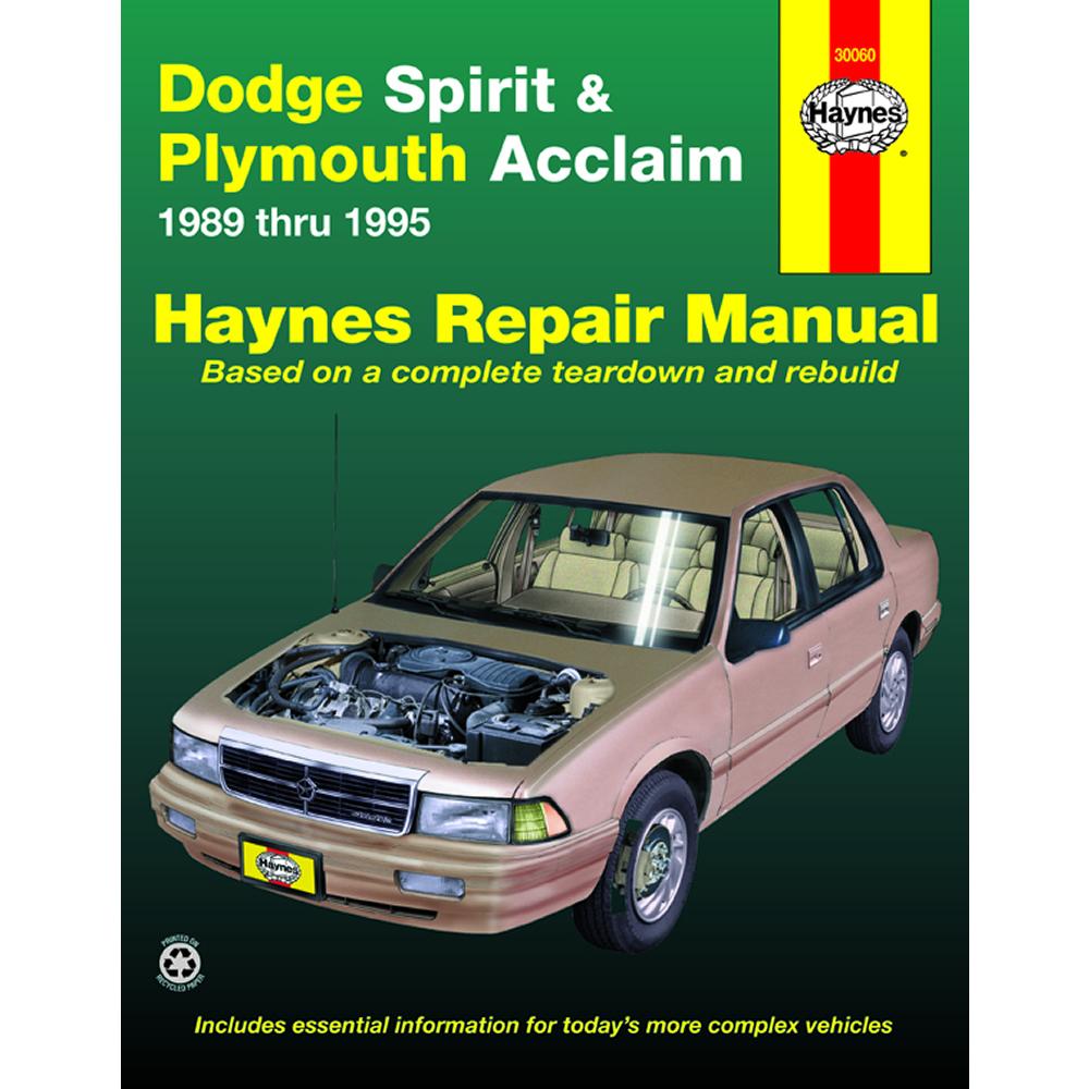 Plymouth Acclaim 1989-1995 Haynes USA Workshop Manual