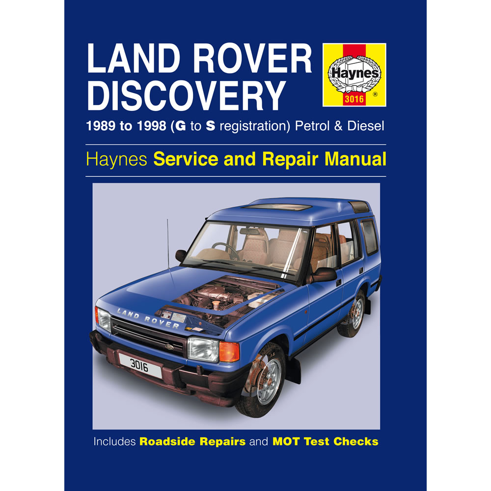 Land Rover Discovery Haynes Manual 1989-98 3.5 3.9 Petrol 2.5 TD Workshop