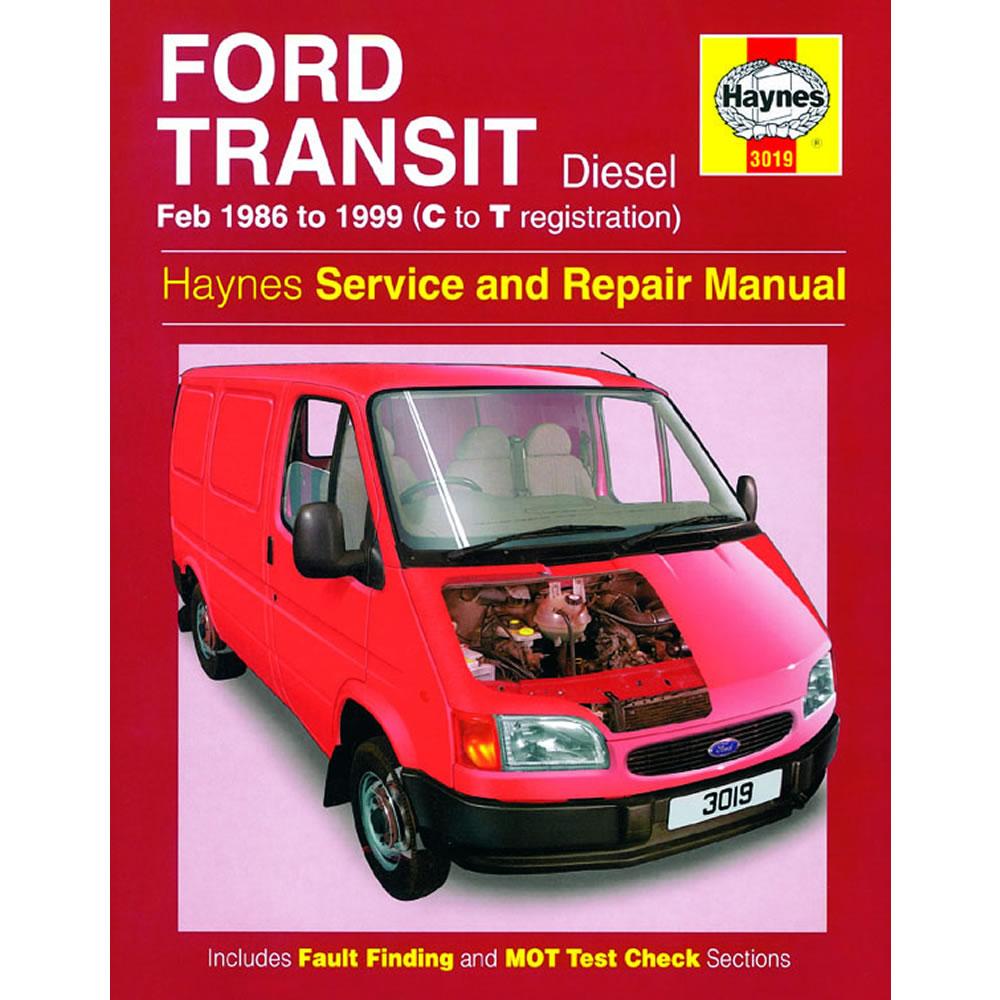 Ford Transit Haynes Manual 1986-99 2.5 Diesel Workshop