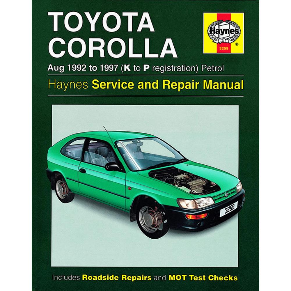 Toyota Corolla Haynes Manual 1997-02 1.3 1.6 1.8 Petrol Workshop