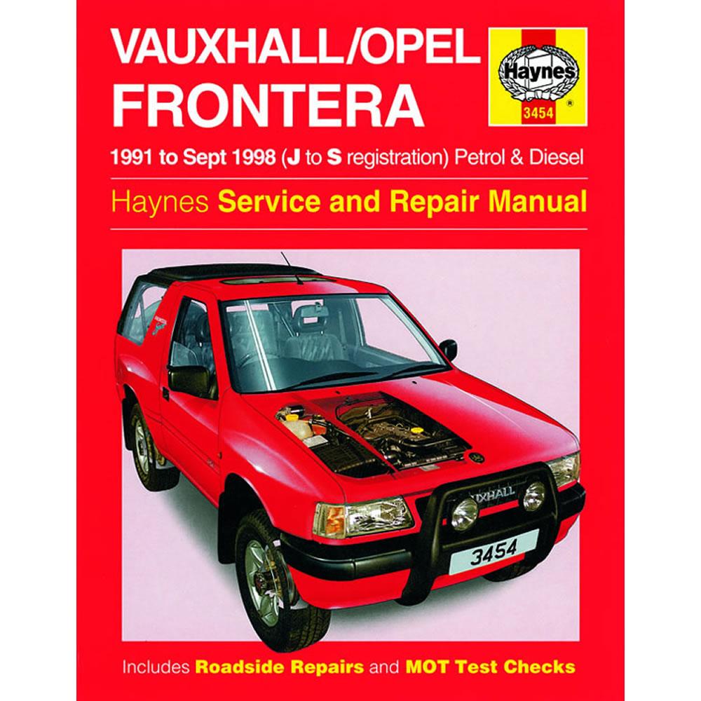 Vauxhall Frontera Haynes Manual 1991-98 2.0 2.2 2.4 Petrol 2.3TD Workshop