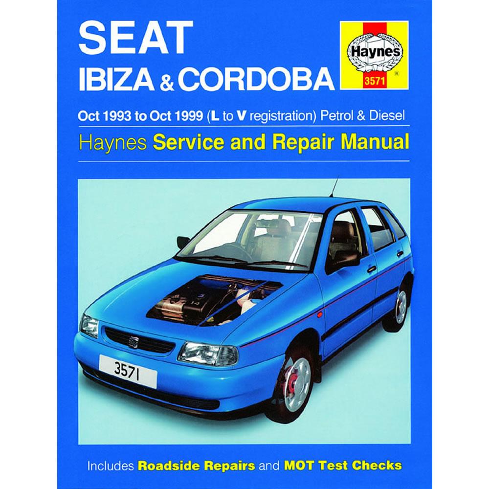 Seat Ibiza Cordoba Haynes Manual 1993-99 1.0-2.0 Petrol 1.9 Diesel Workshop