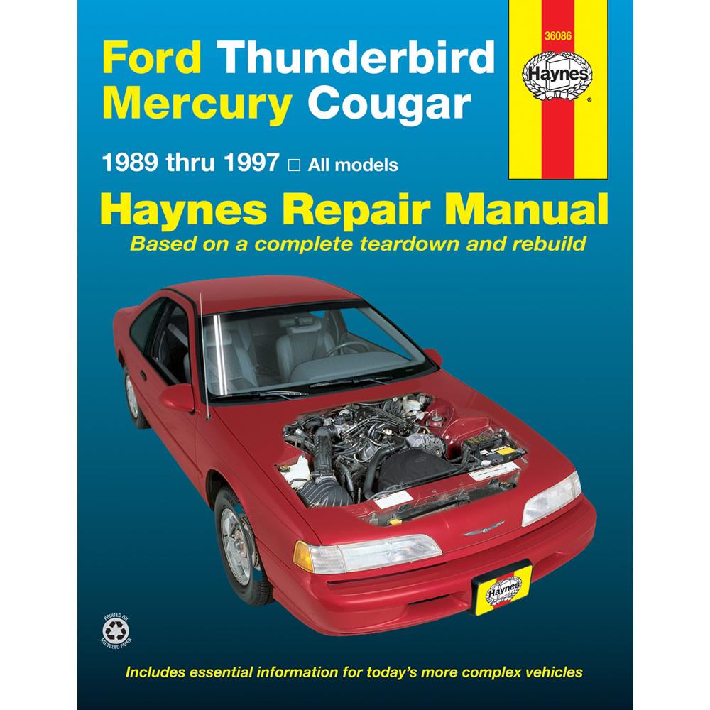 Mercury Cougar 1989-1997 Haynes USA Workshop Manual