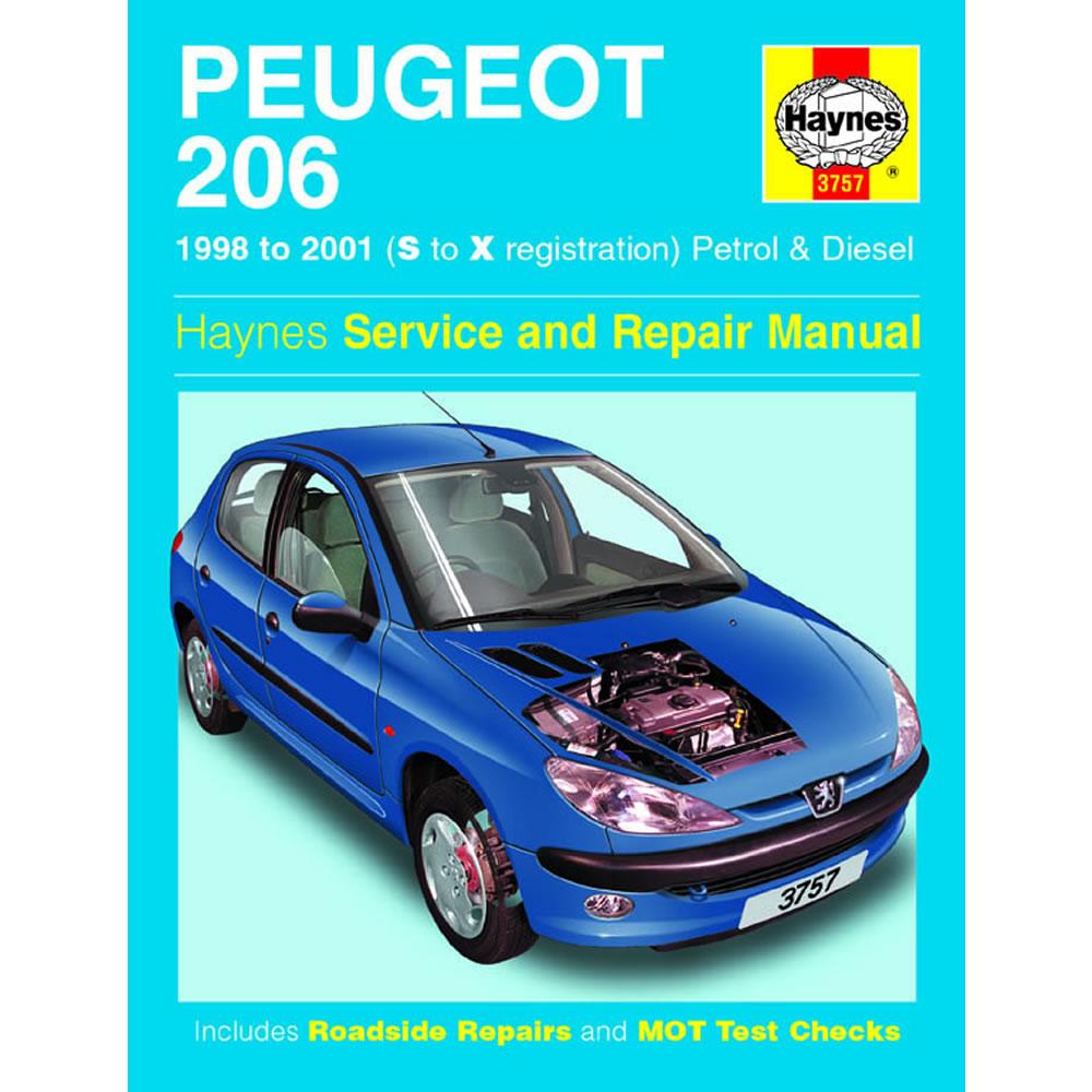 Peugeot 206 Haynes Manual 1998-01 1.1 1.4 1.6 Petrol 1.9 2.0 Diesel Workshop