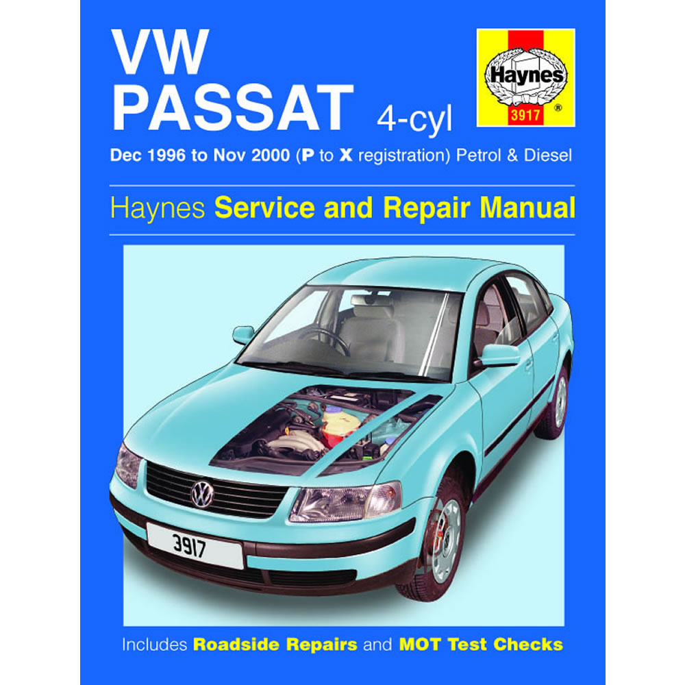 VW Passat Haynes Manual 1996-00 1.6 1.8 Petrol 1.9 Diesel Workshop