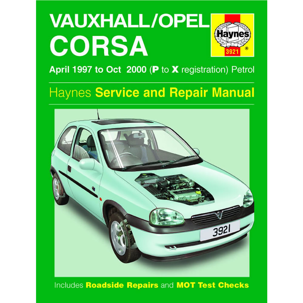 Vauxhall Corsa Haynes Manual 1997-00 1.0 1.2 1.4 1.6 Petrol Workshop Manual