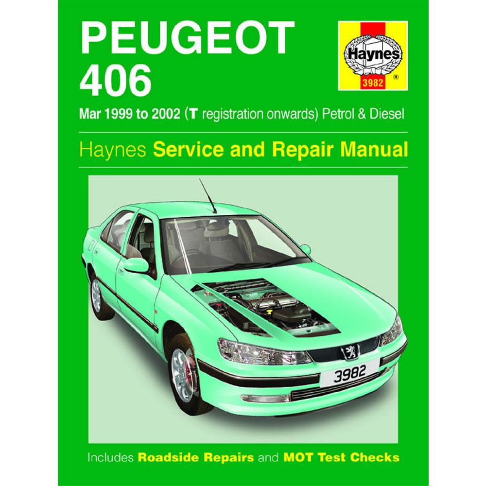 Peugeot 406 Haynes Manual 1999-02 1.8 2.0 Petrol 2.0 2.2 Diesel Workshop  Manual