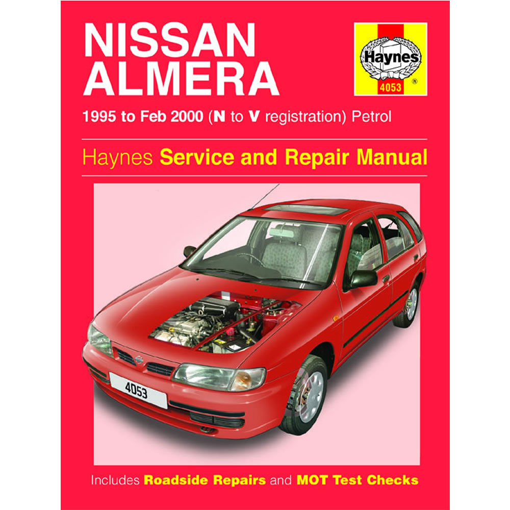 Nissan Almera Haynes Manual 1995-00 1.4 1.6 Petrol Workshop Manual