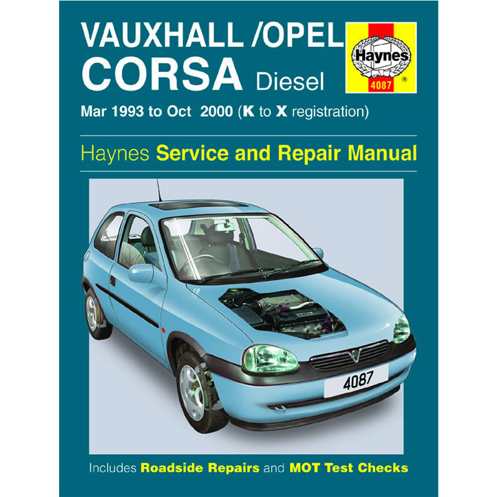 Vauxhall Corsa Haynes Manual 1993-00 1.5 1.7 Diesel Workshop Manual