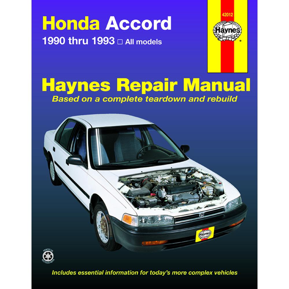 Honda Accord All Models 1990-1993 Haynes USA Workshop Manual