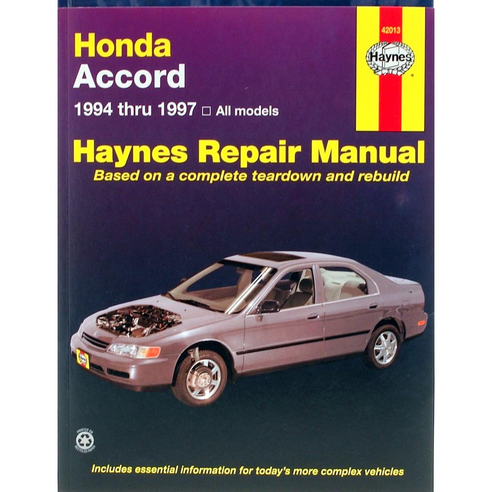 Honda Accord All Models 1994-1997 Haynes USA Workshop Manual