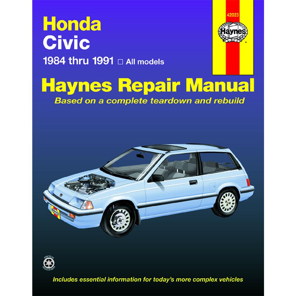 Honda CRX 1988-1991 Haynes USA Workshop Manual