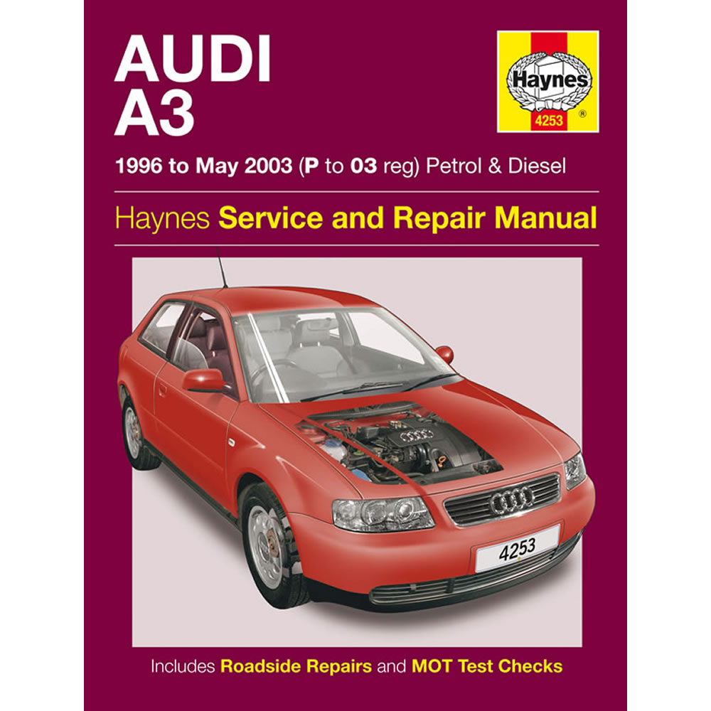 Audi A3 Haynes Manual 1996-03 1.6 1.8 Petrol 1.9 Diesel Workshop Manual