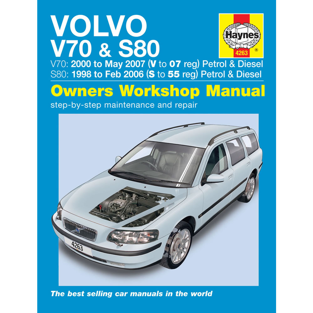 Volvo V70 S80 Haynes Manual 1998-07 2.0 2.3 2.4 2.5 Petrol 2.4 Dsl Workshop