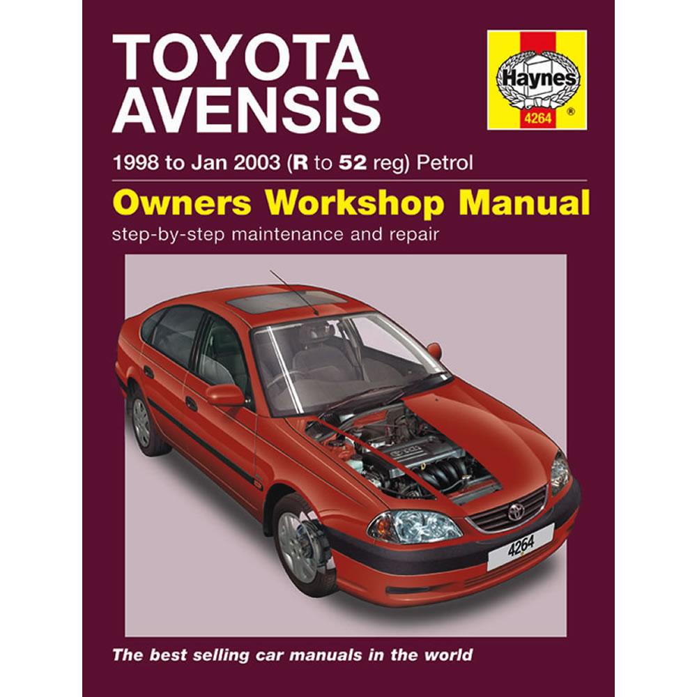 Toyota Avensis Haynes Manual 1998-03 1.6 1.8 2.0 Petrol Workshop Manual