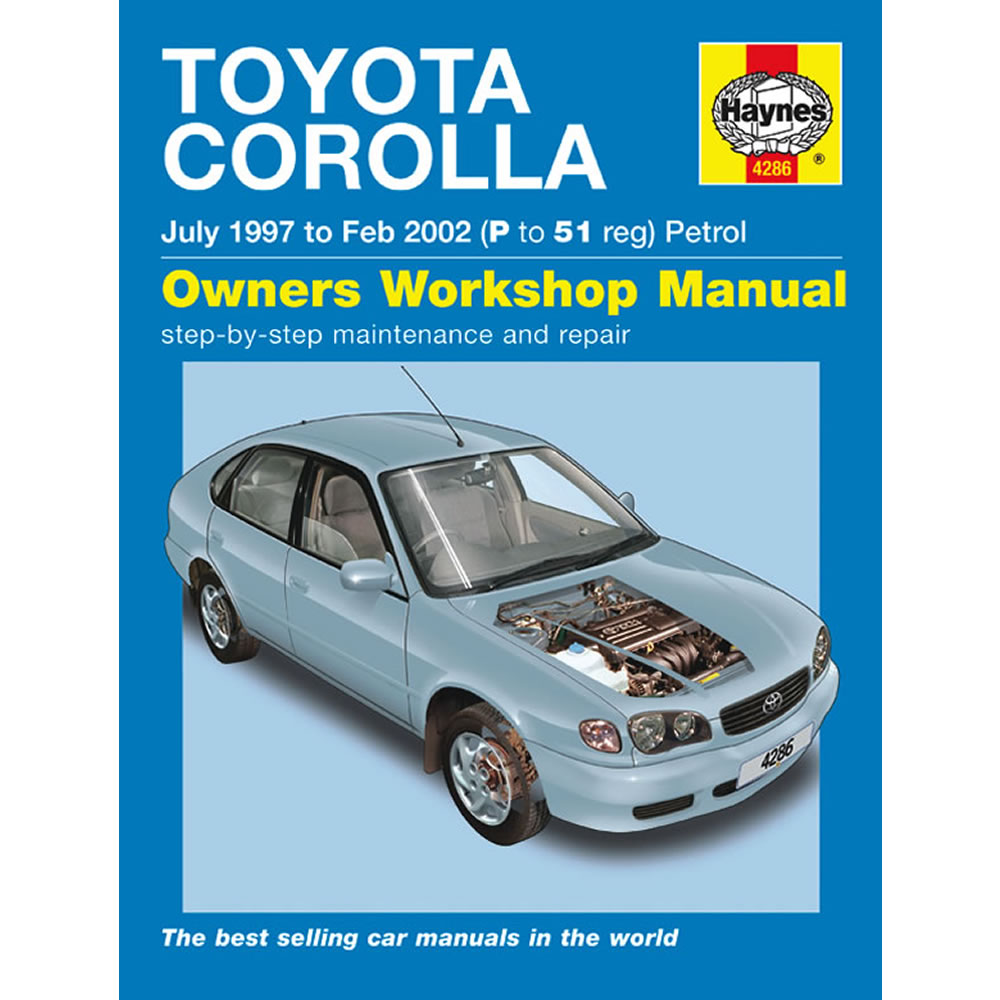 Toyota Cololla Haynes Manual 1997-02 1.3 1.4 1.6 Petrol Workshop Manual