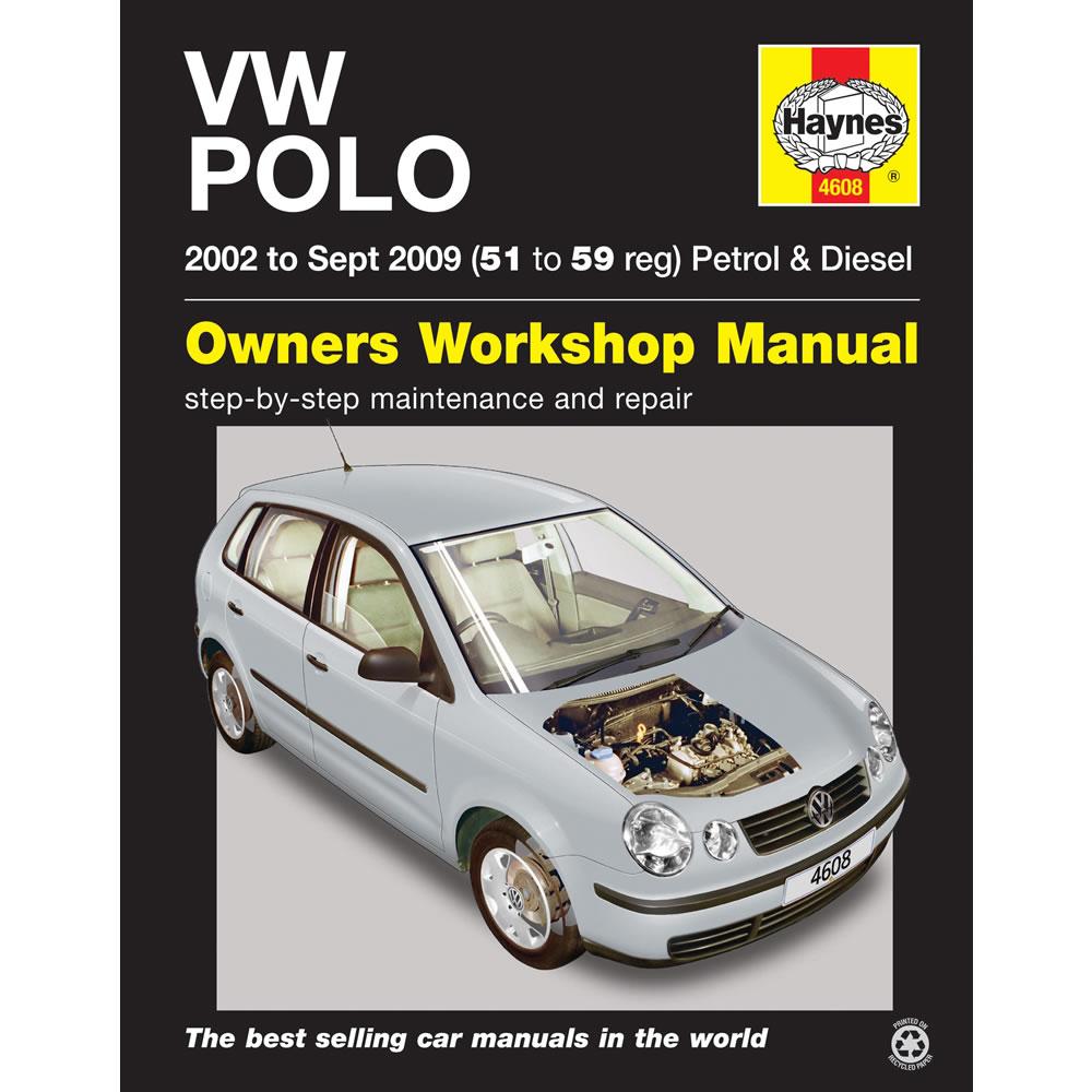 VW Polo Haynes Manual 2002-05 1.2 1.4 Petrol 1.4 1.9 Diesel Workshop Manual