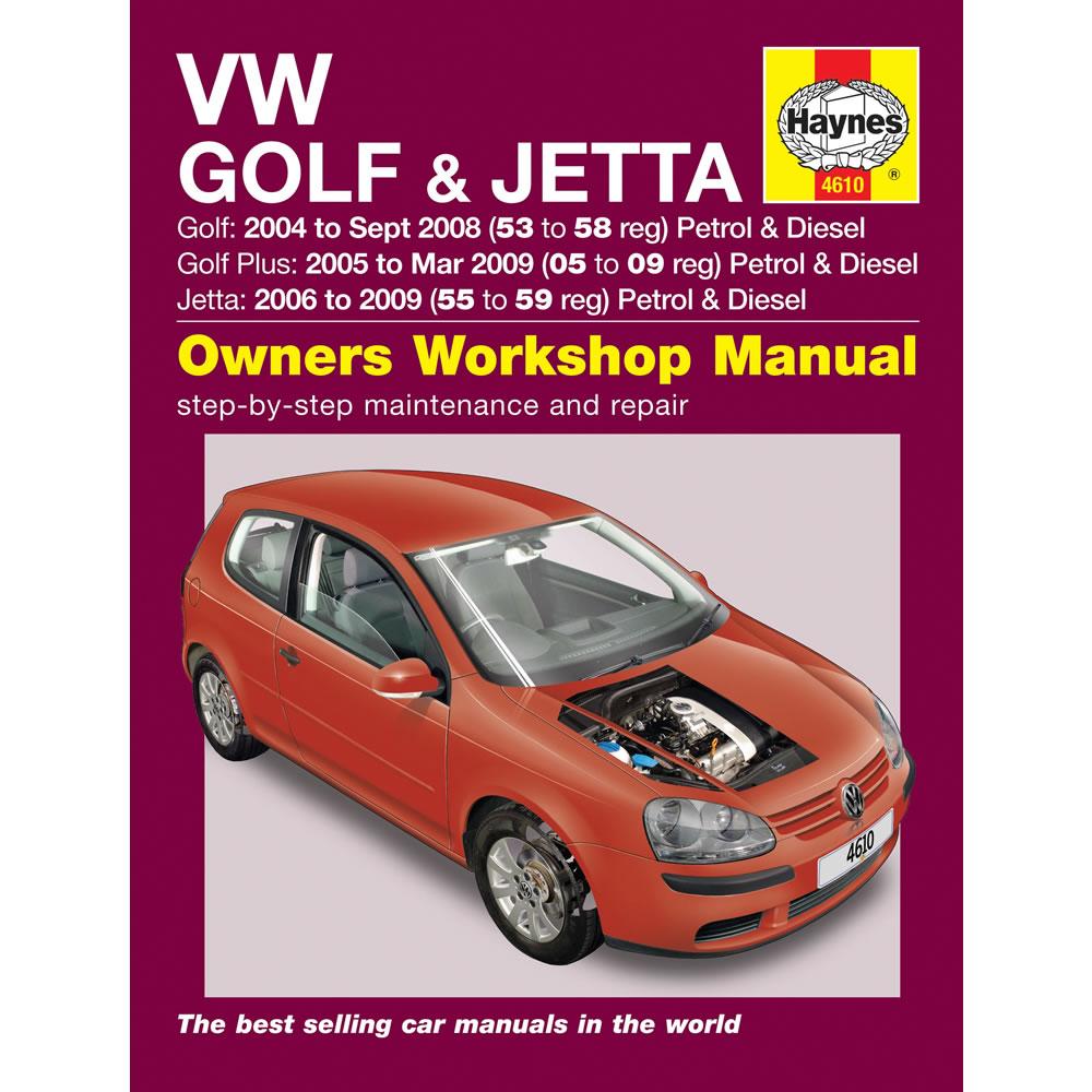 VW Golf Jetta Haynes Manual 2004-09 1.4 1.6 2.0 Petrol 1.9 2.0 Dsl Workshop
