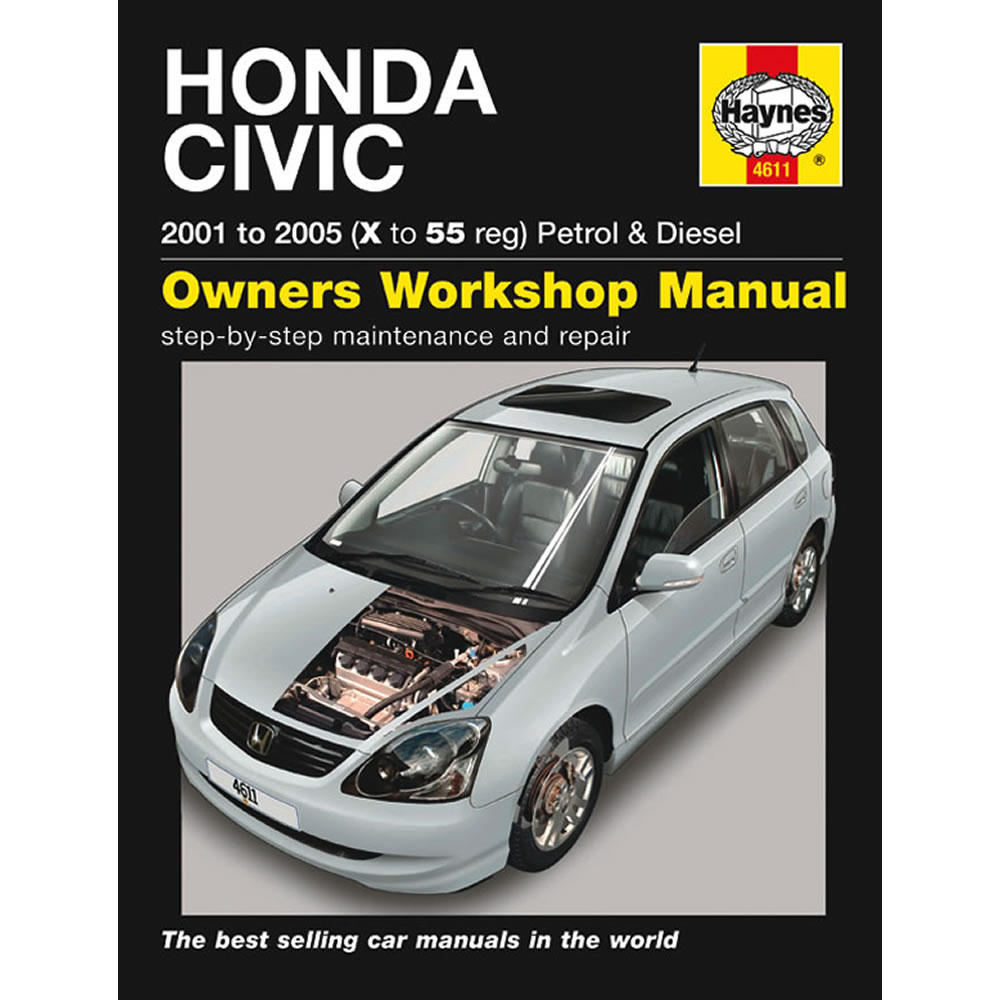 Honda Civic Haynes Manual 2001-05 1.4 1.6 Petrol 1.7 Diesel Workshop Manual