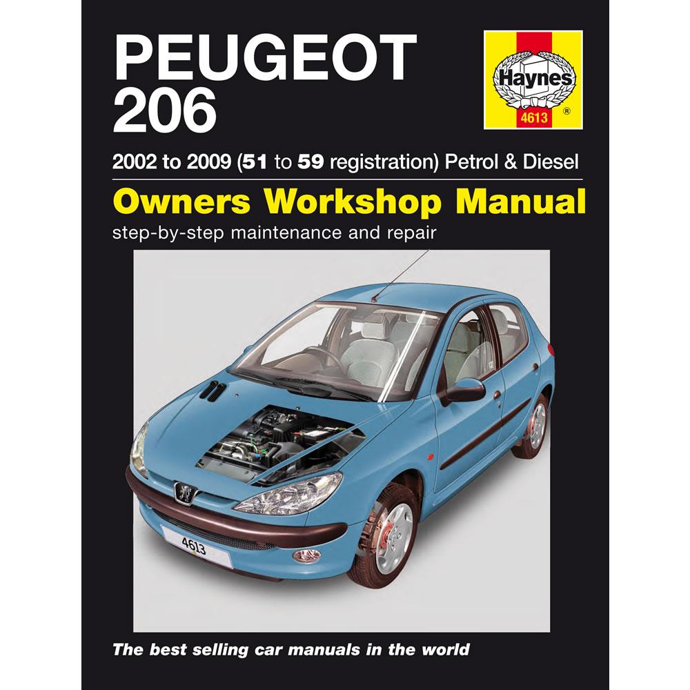 Peugeot 206 Haynes Manual 2002-09 1.1 1.4 1.6 2.0 Petrol 1.4 2.0 Diesel