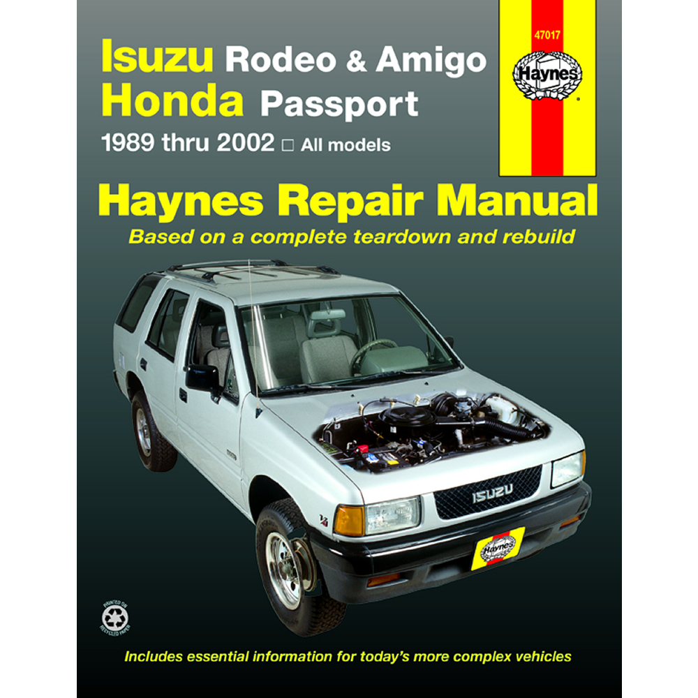 isuzu rodeo sport 2001 2002 haynes usa workshop manual ebay rh ebay com au Holden  Rodeo 2015 1997 Holden Rodeo