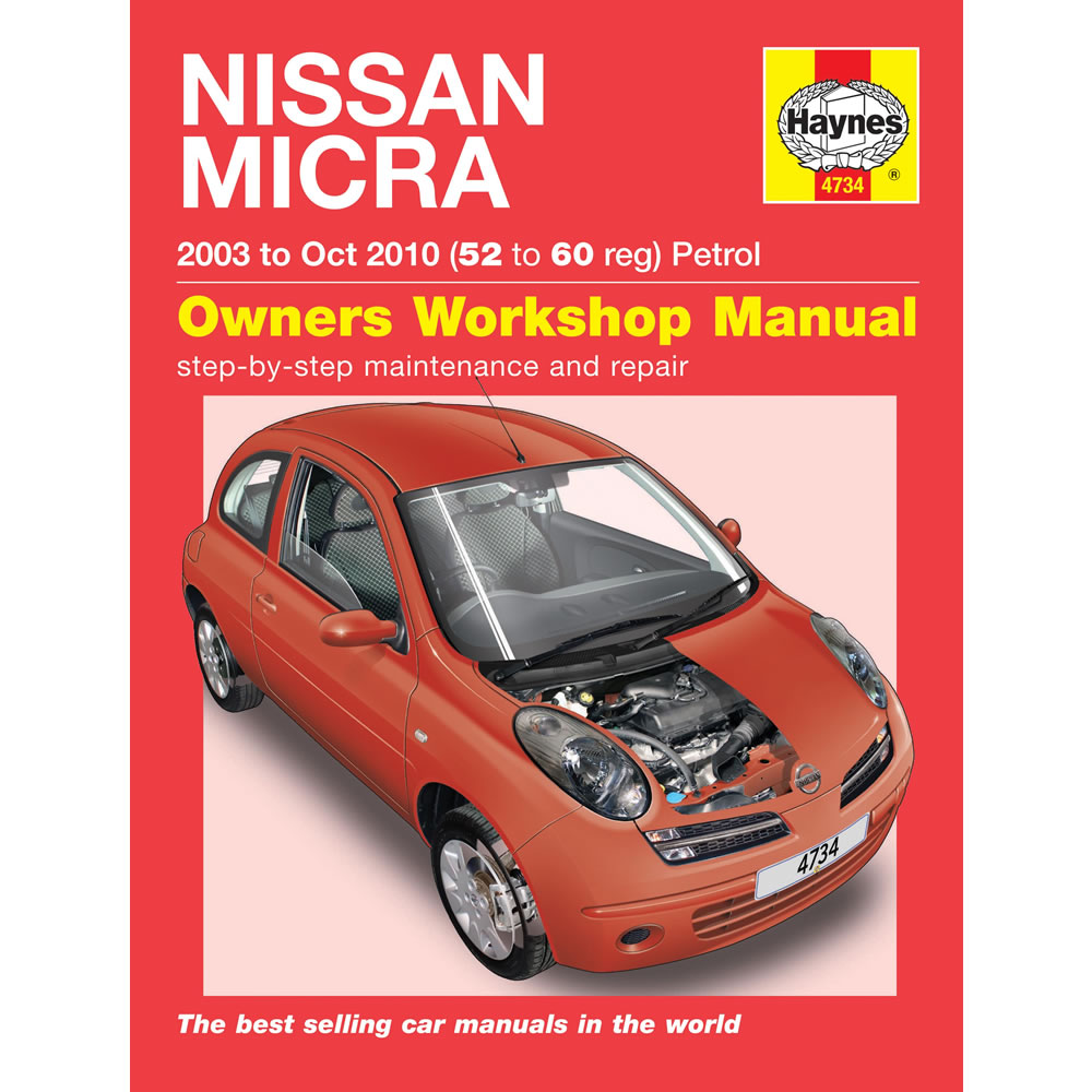 Nissan Micra Haynes Manual 2003-07 1.0 1.2 1.4 Petrol Workshop Manual