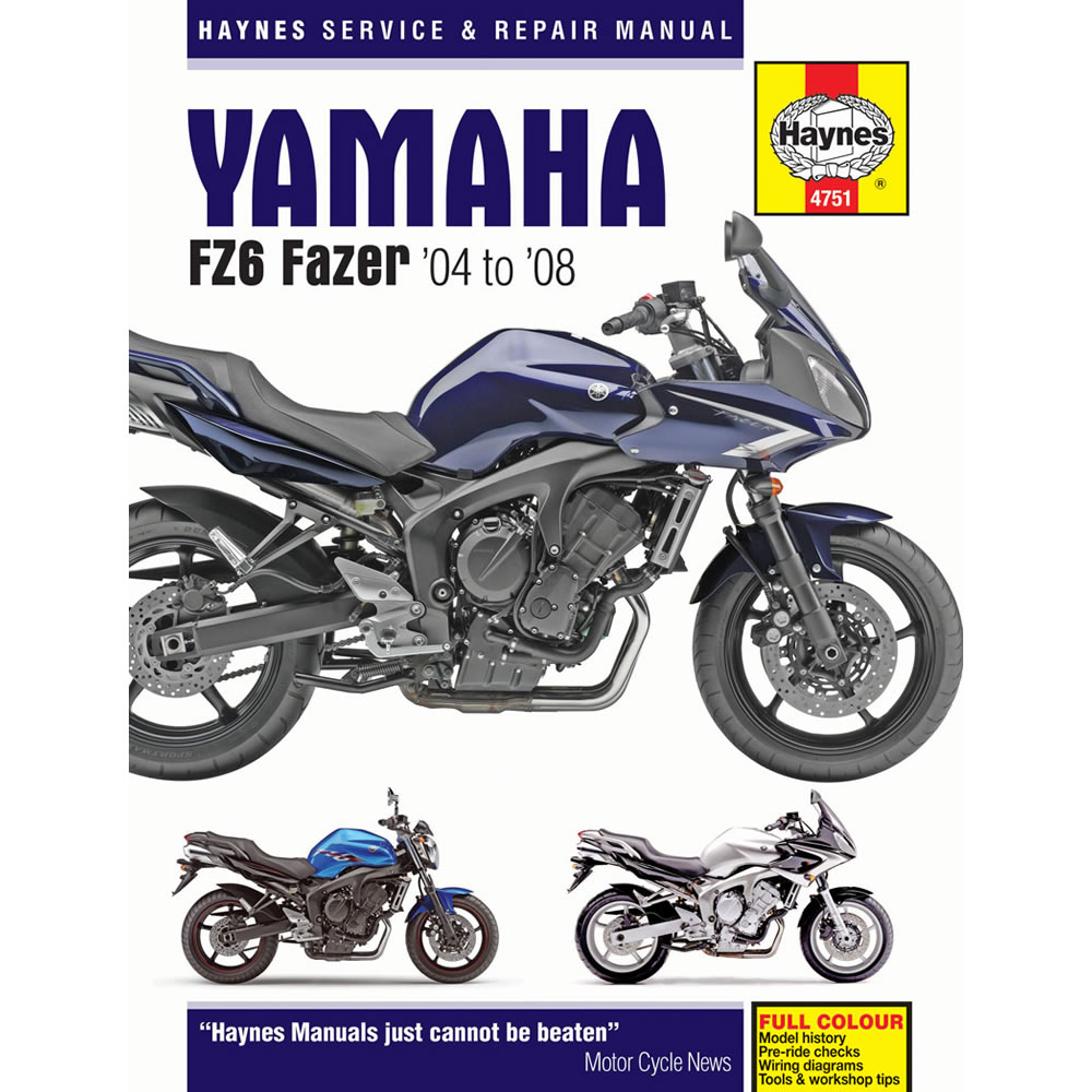 Yamaha Fz6 Inc Fazer 2004 2008 Haynes Workshop Manual Ebay Fz6r Wiring Diagram