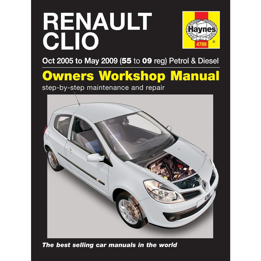 Renault Clio Haynes Manual 2005-09 1.2 1.4 1.6 Petrol 1.5 Diesel
