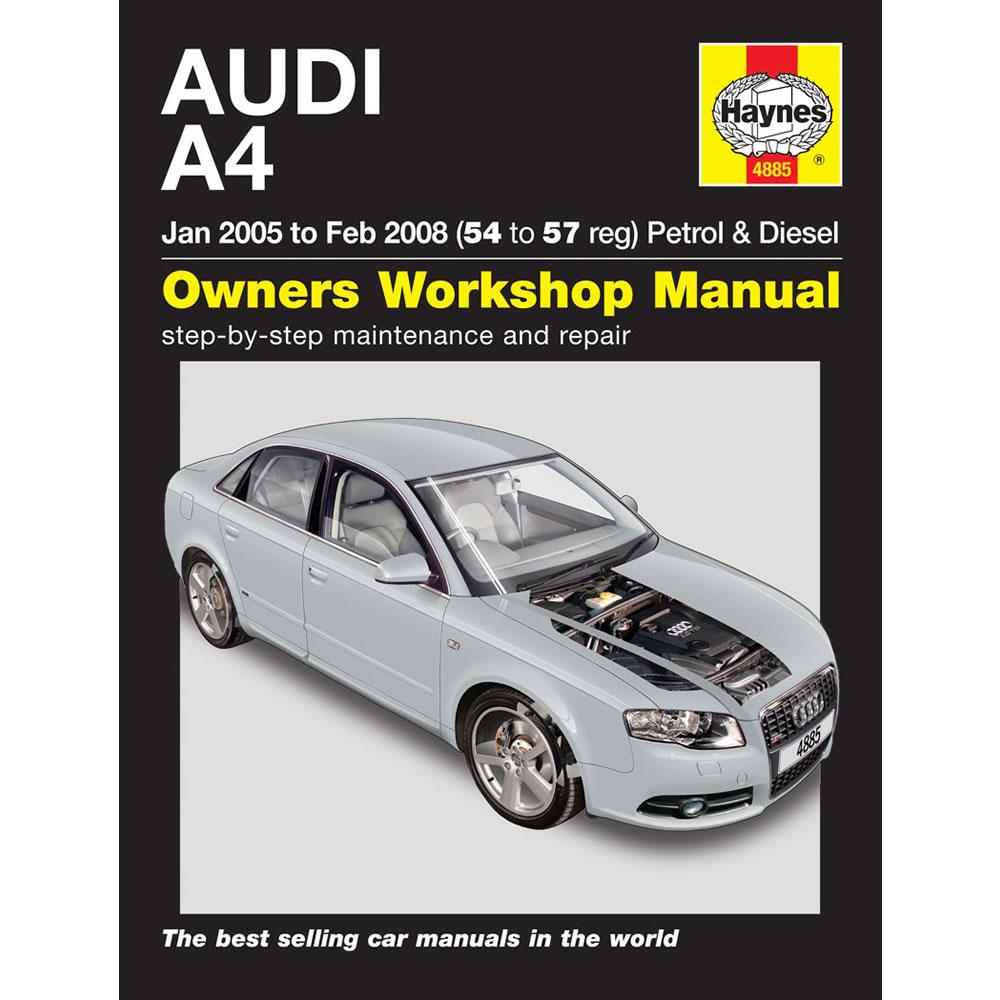 Audi A4 Haynes Manual 2005-08 1.8 2.0 Petrol 1.9 2.0 Turbo Diesel