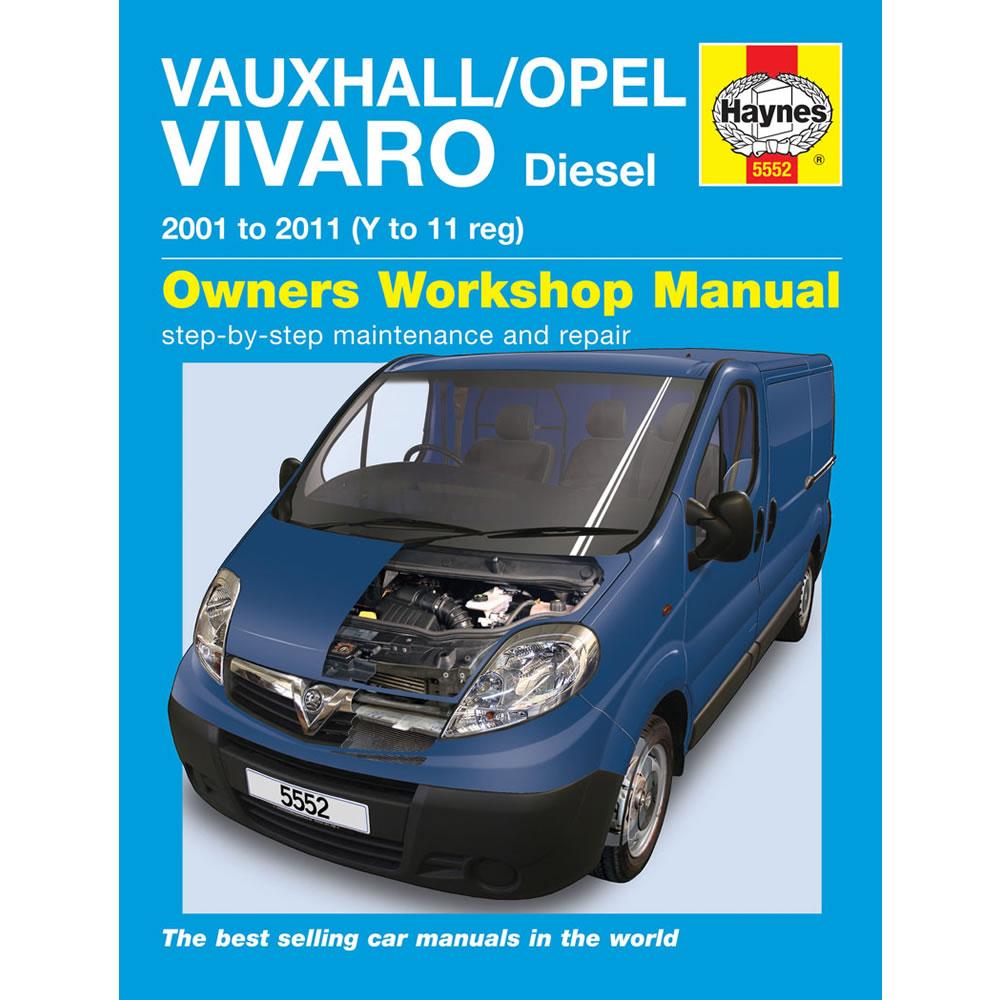 Vauxhall/Opel Vivaro Haynes Manual 2001-10 1.9 2.0 Diesel Workshop Manual