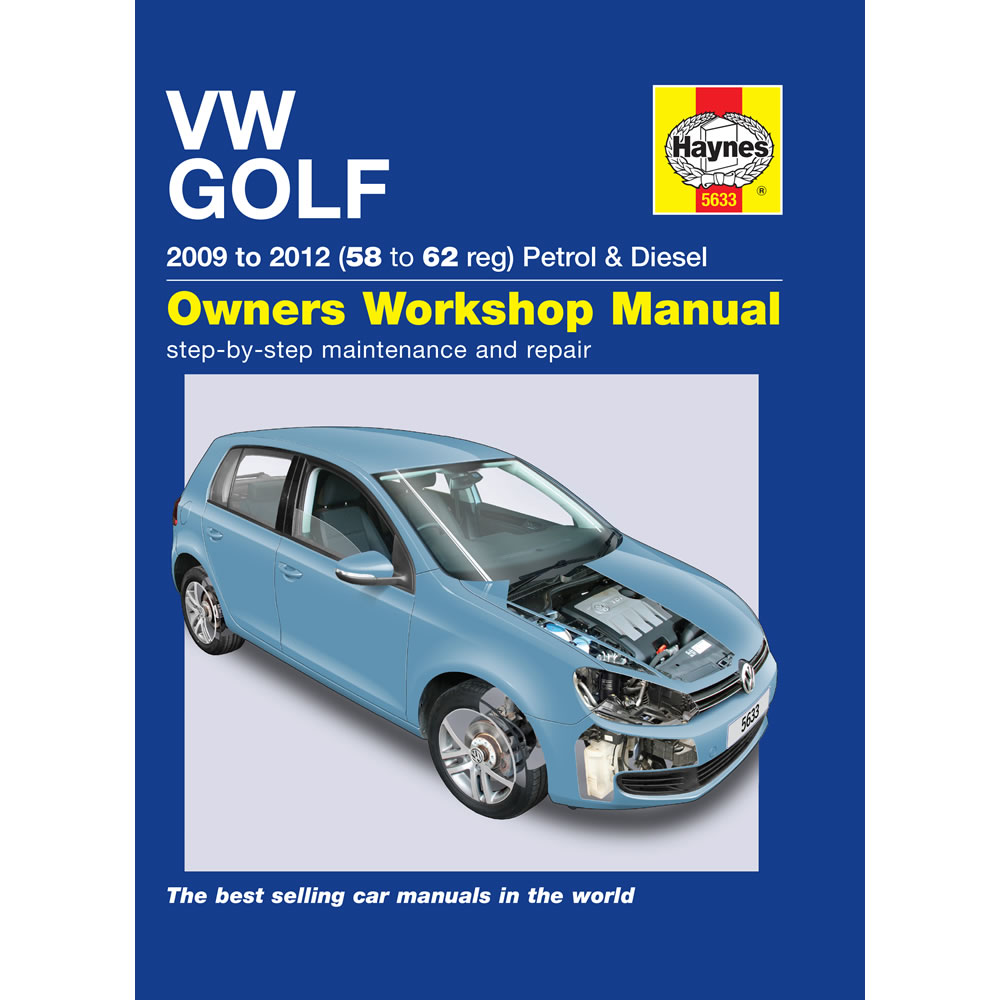 vw golf mk6 haynes manual 2009 12 1 4 petrol 1 6 2 0 diesel workshop manual 756554650641 ebay. Black Bedroom Furniture Sets. Home Design Ideas