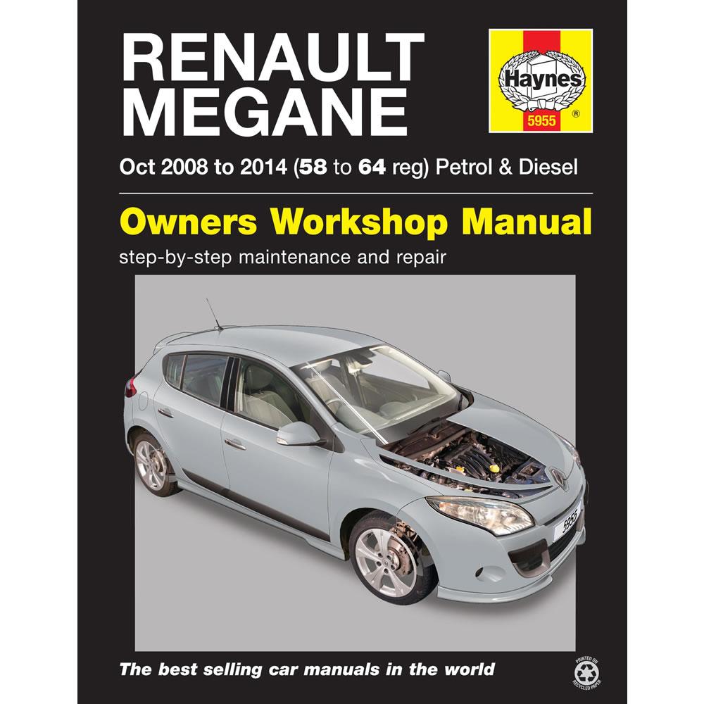 Renault Megane Haynes Manual 2008-14 1.6 Petrol 1.5 Diesel Workshop Manual