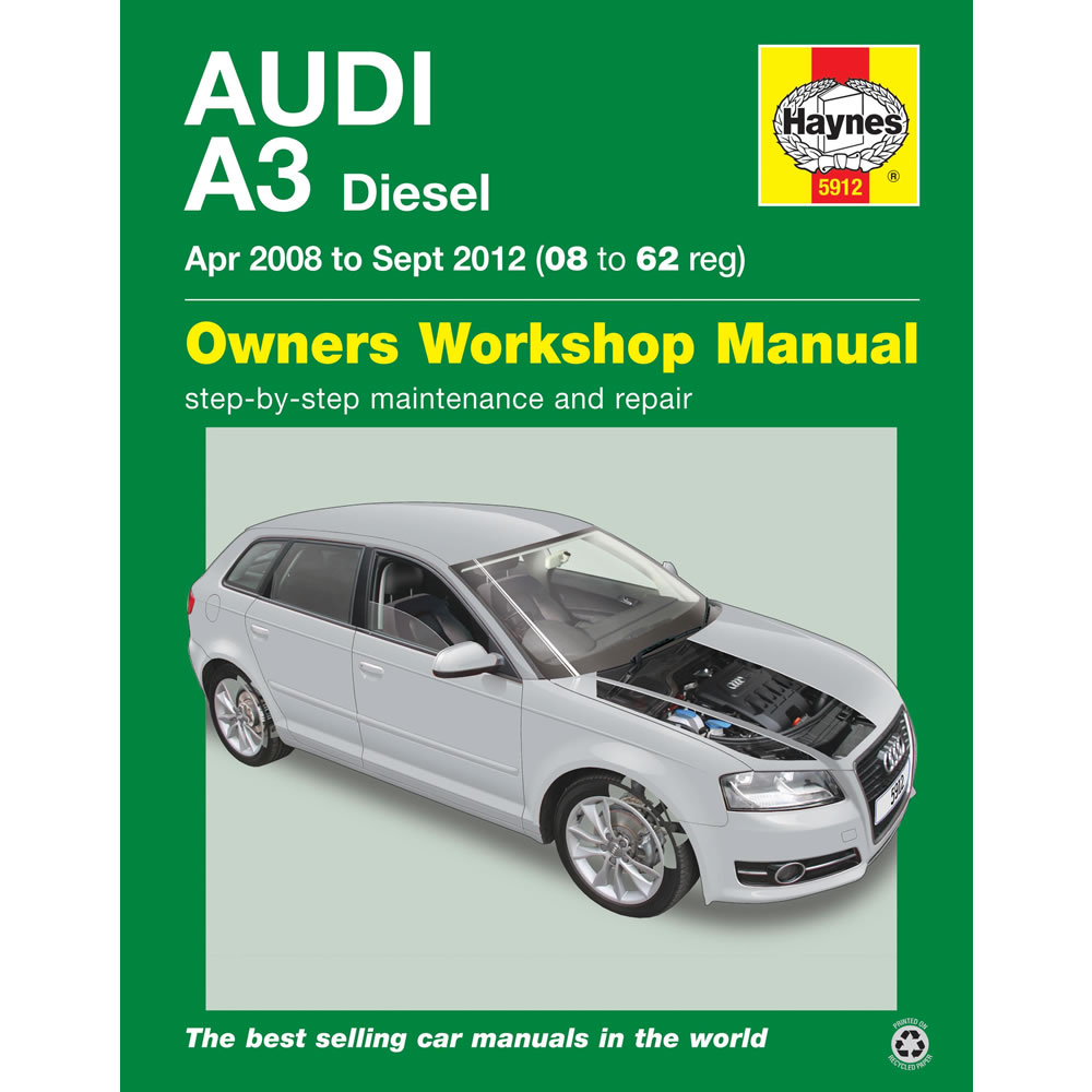 Audi A3 Haynes Manual 2008-12 1.6 1.9 2.0 Diesel Workshop Manual