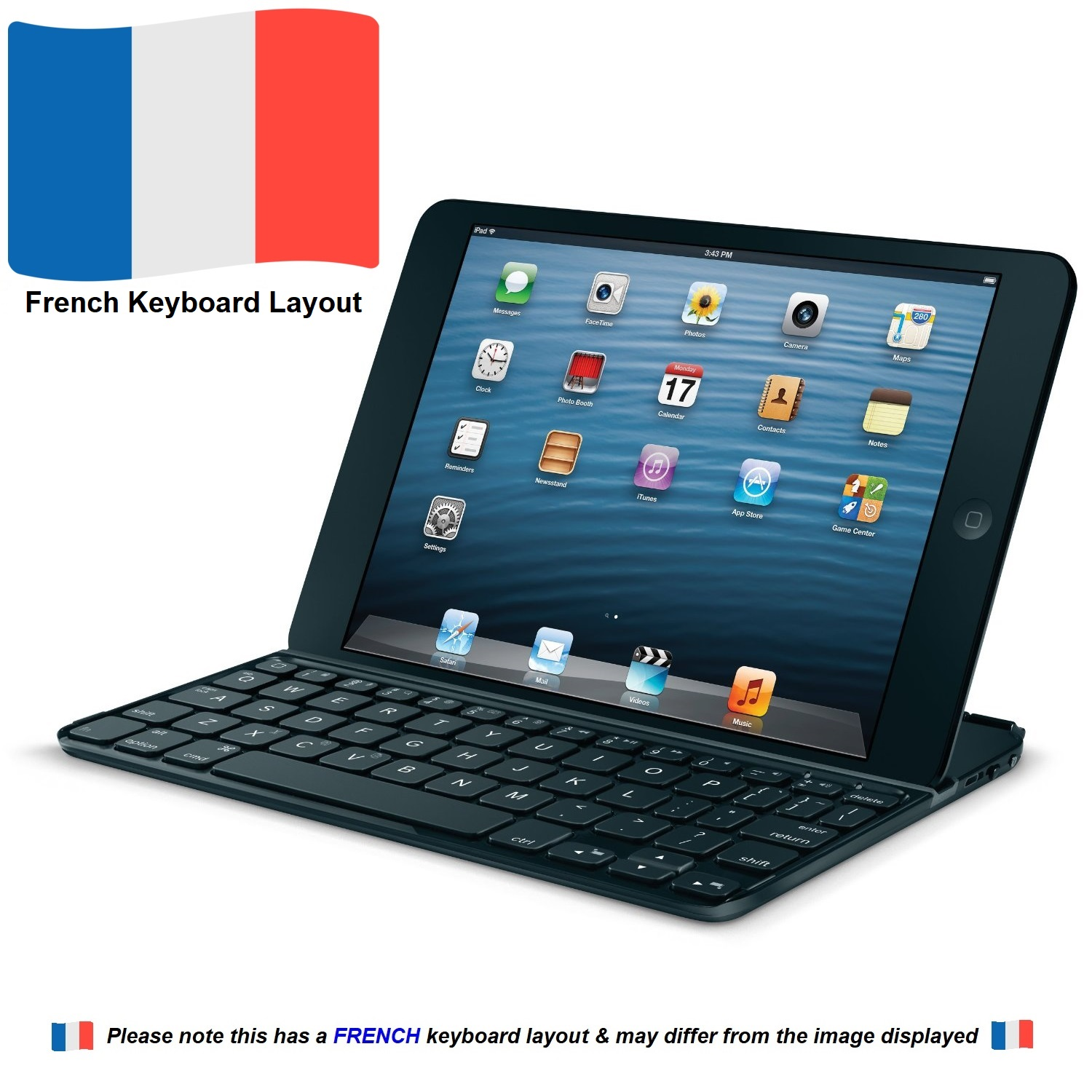 Details about Logitech Ultrathin Wireless Bluetooth FRENCH Keyboard for  iPad mini 1/2/3, Black