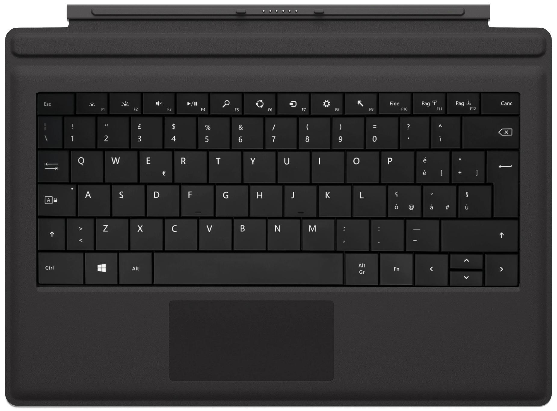 Microsoft Type Cover Black Ita...