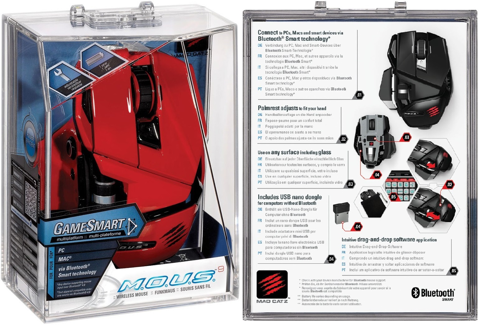 Mad Catz Mous 9 Red Wireless Gaming Mouse Clr 14135 Ebay Votree