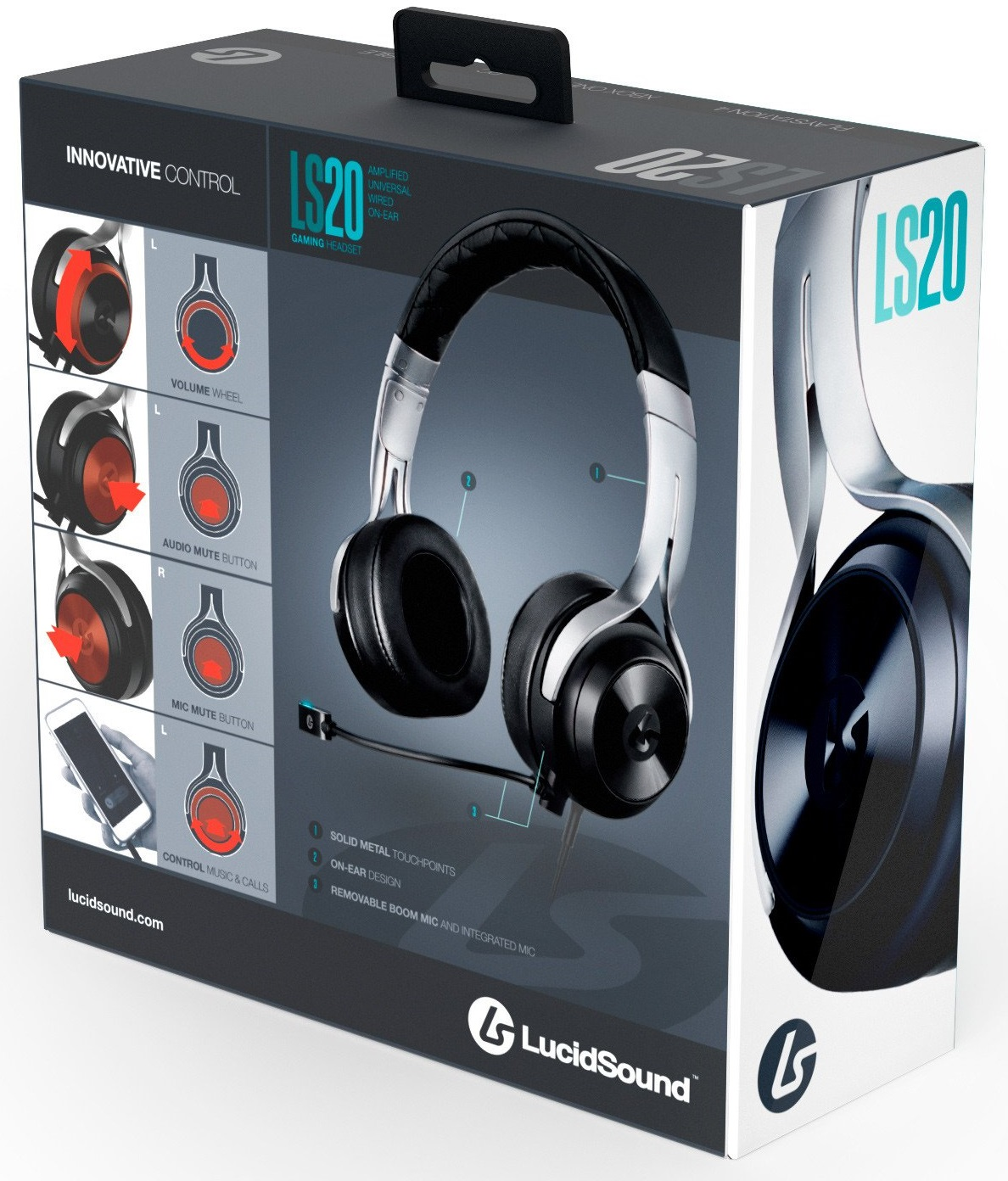 Details about Lucid Sound LS20 Black Wired Gaming Headset w/ Mic for PS4  Xbox One PC & Mobile